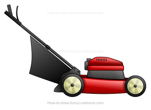 Lawn mower drawing at getdrawings free for personal use lawn 530x388 how to draw a cartoon lawn mower publicscrutiny Image collections