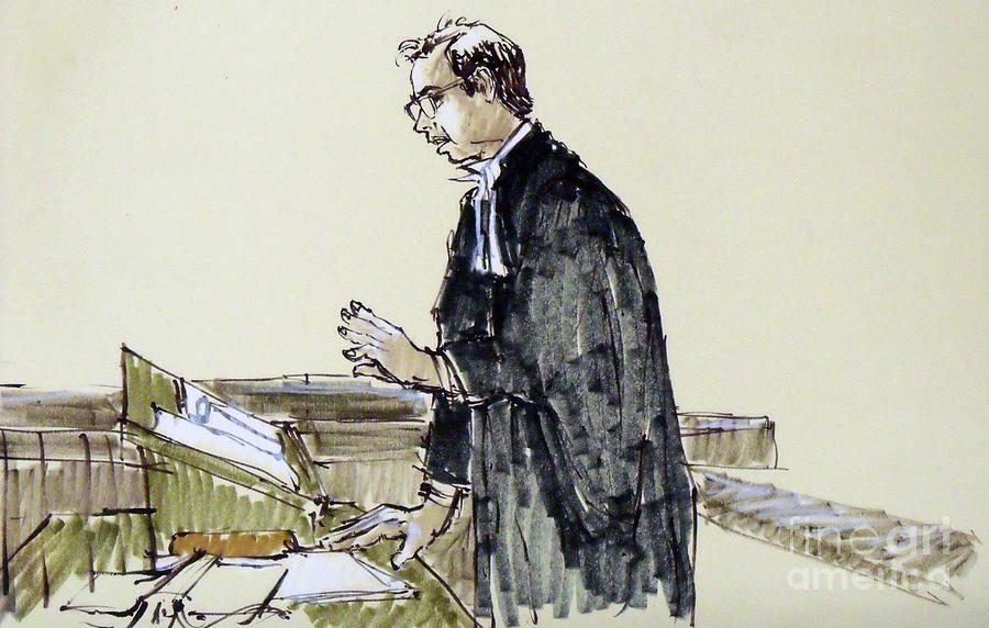 900x572 Lawyer 10 Drawing By Armand Roy
