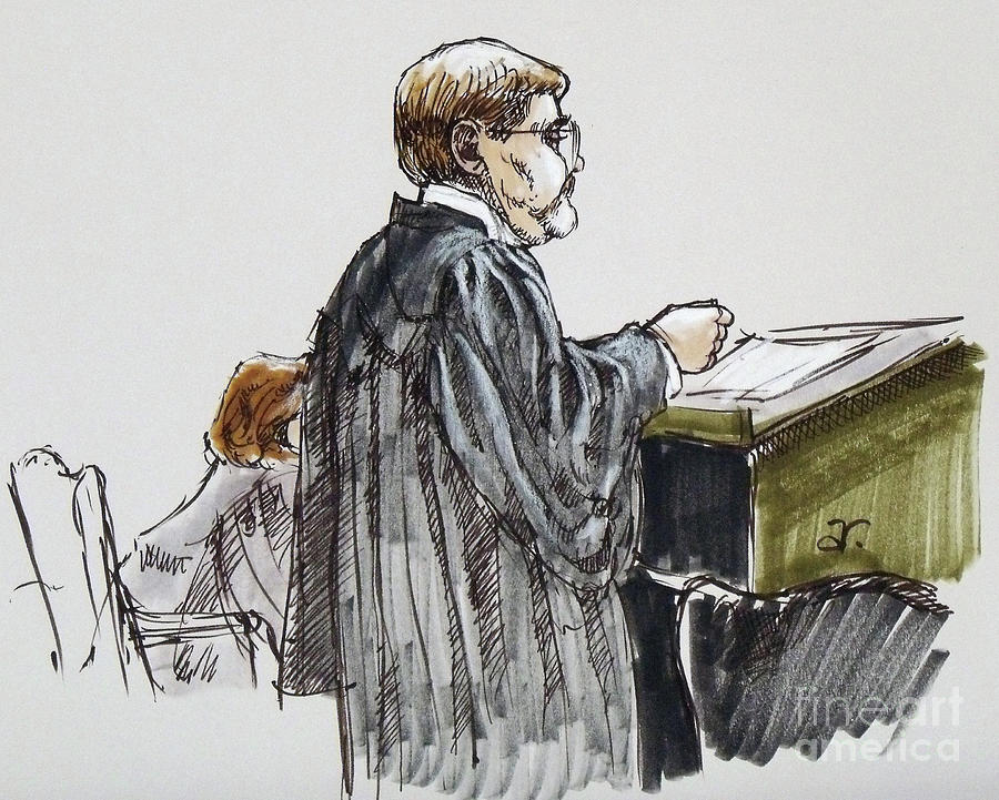 900x721 Lawyer 6 Drawing By Armand Roy