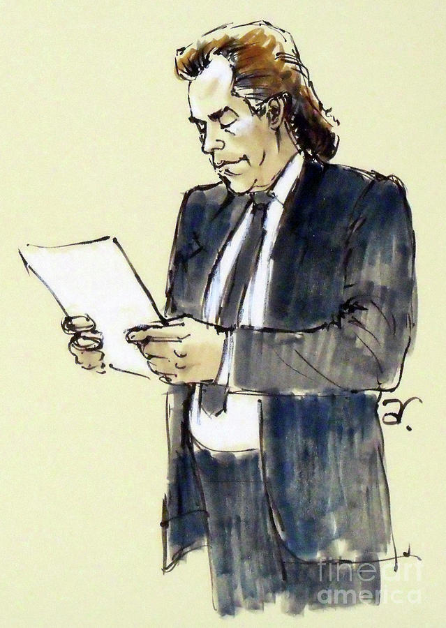 639x900 Lawyer 9 Drawing By Armand Roy