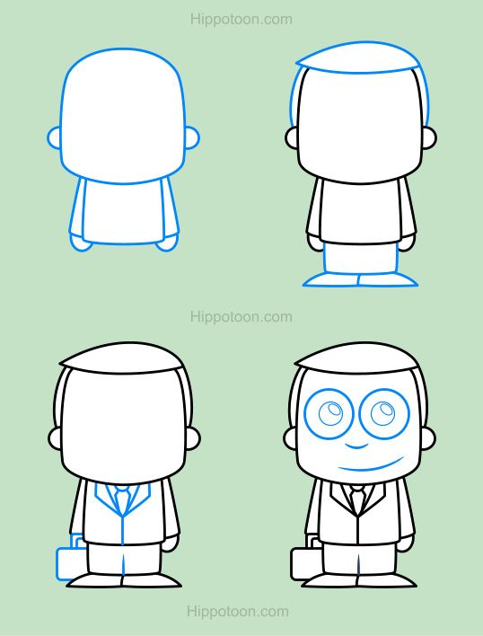 538x708 Simple Drawing Lesson On How To Draw A Cartoon Lawyer. Drawing