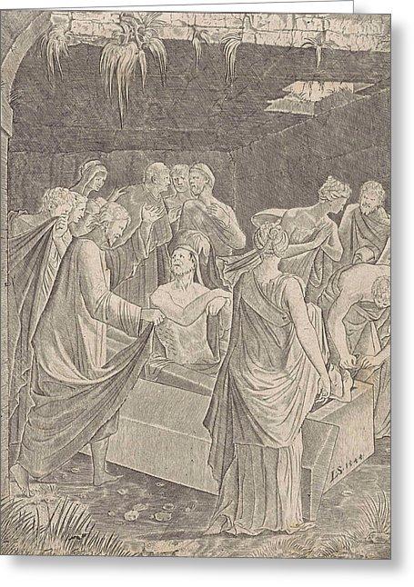 455x646 Lazarus, Lambertus Suavius Drawing By Lambertus Suavius