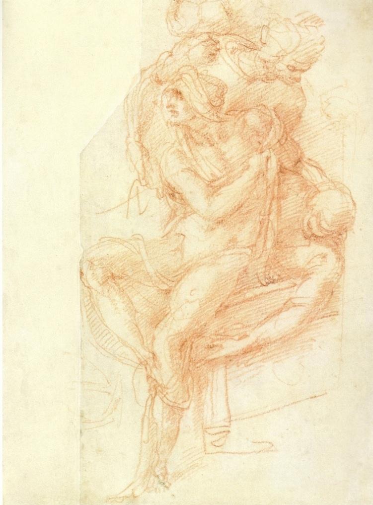 751x1016 Lazarus By Michelangelo Drawing Michelangelo Gallery