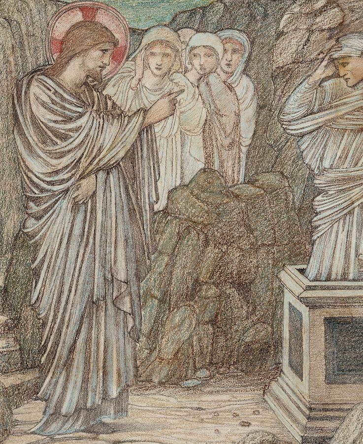 737x900 The Raising Of Lazarus Drawing By Edward Burne Jones