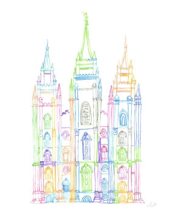 570x725 Salt Lake City, Utah Lds Temple Celeste C. Clark