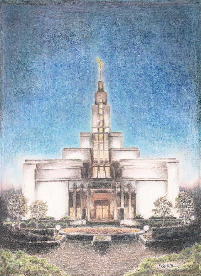 654x900 Draper Utah Lds Temple Drawing By Pris Hardy