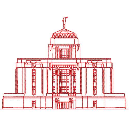 500x500 Meridian Idaho Lds Temple Redwork Embroidery Design Digital