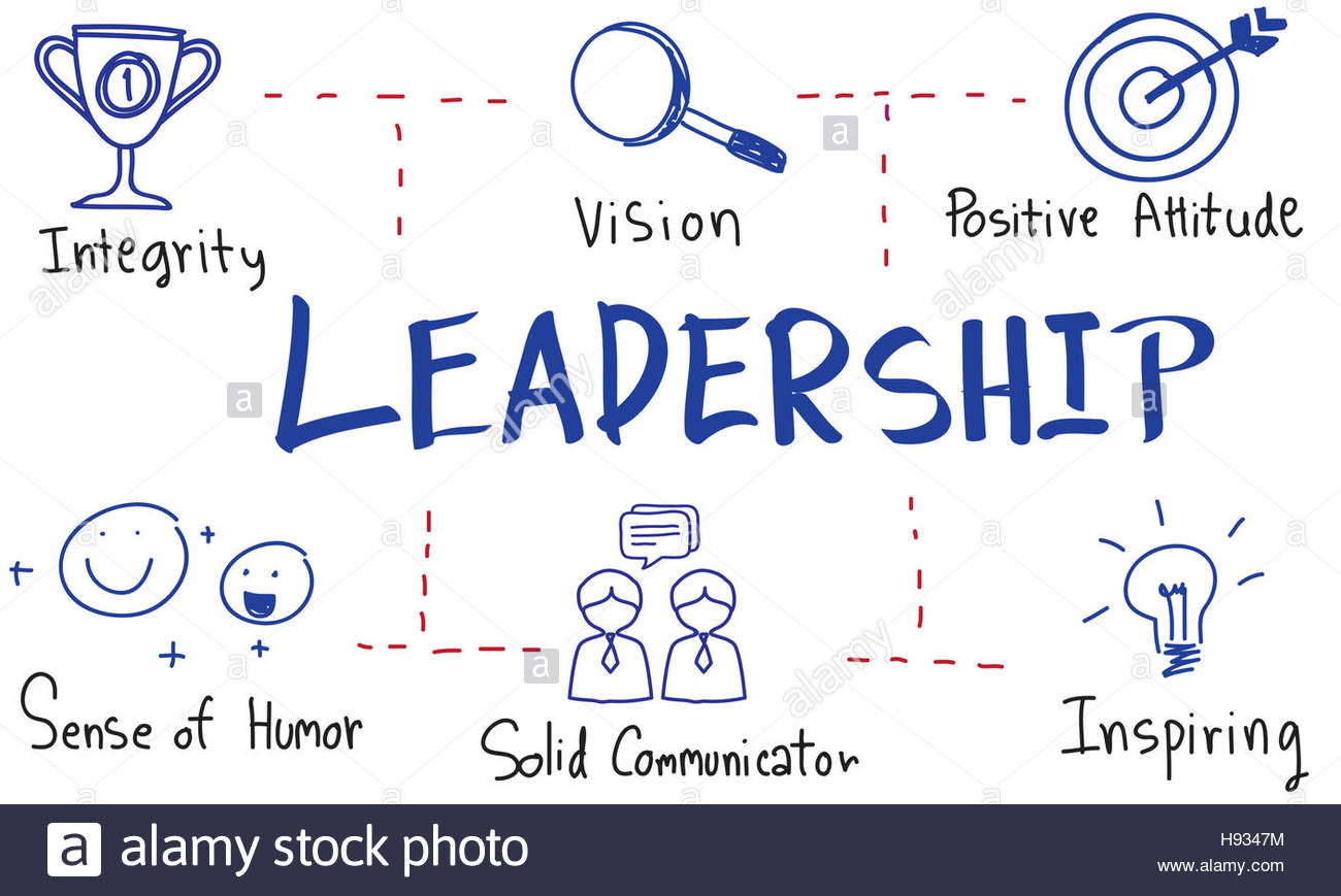 1300x869 Leadership Success Skills Drawing Graphic Concept Stock Photo