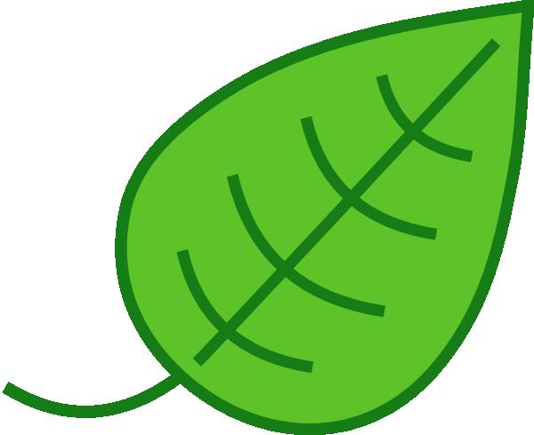600x489 Green Leaf Clip Art