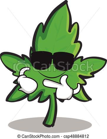 362x470 Super Cool Marijuana Character Cartoon Vector Illustration Vector
