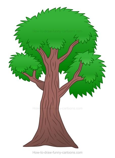 454x622 To Draw A Cartoon Tree