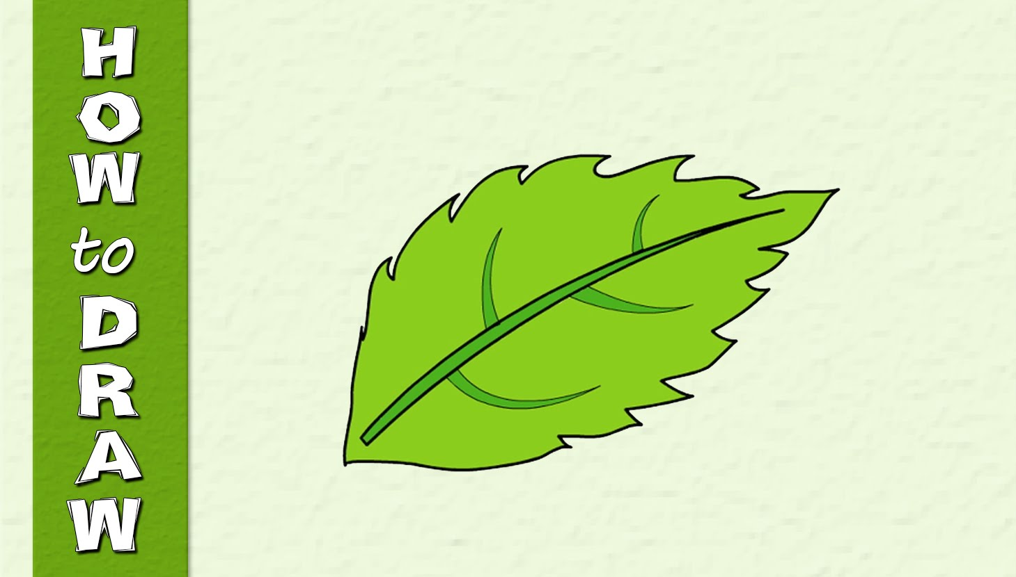 1459x830 How To Draw A Leaf Easy Drawing Web Series Drawing Video