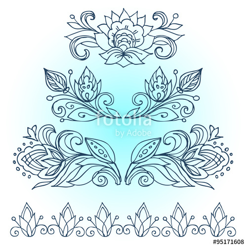 500x500 Vector Doodle.decorative Elements In The Style Of Boho. Linear