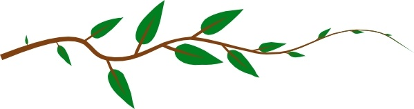 599x158 Leaf Vine Clip Art Free Vector In Open Office Drawing Svg ( Svg