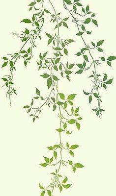 236x400 Trailing Leaves Stencil Theme Pack Clematis Vines Wall Art