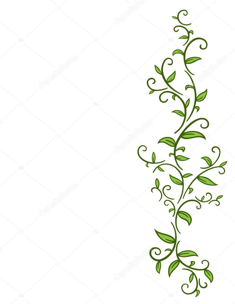791x1024 Tribal Vine With Leaves Stock Vector Rcpsi