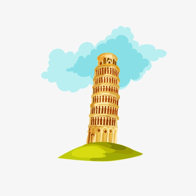 650x650 Drawing Italy Travel Elements,leaning Tower Of Pisa, Drawing Italy