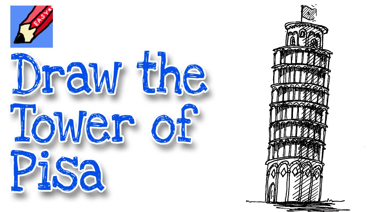 1280x720 How To Draw The Leaning Tower Of Pisa