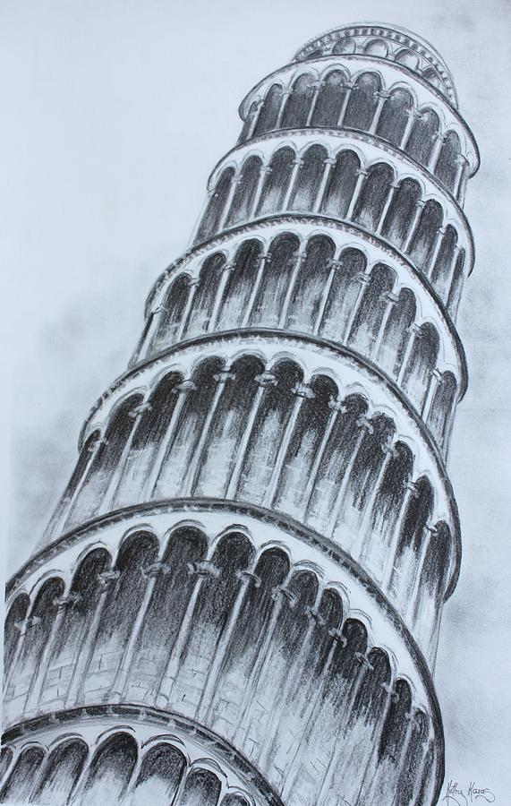 571x900 The Leaning Tower Of Pisa Painting By Kathy Karas