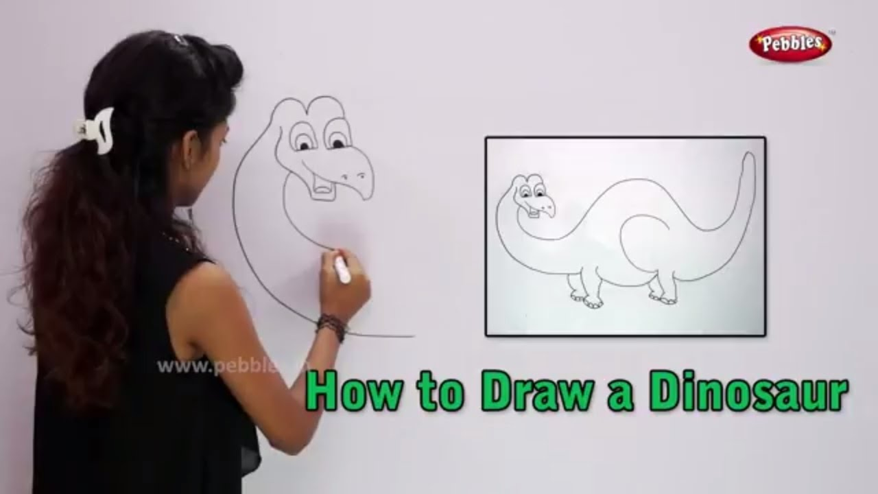 1280x720 How To Draw A Dinosaur Learn Drawing For Kids Learn Drawing