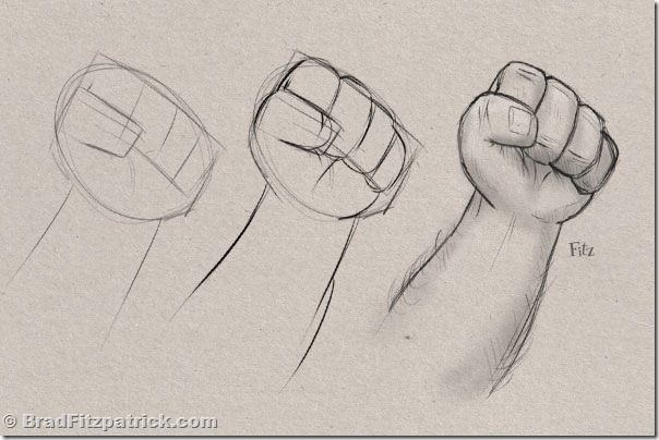 604x404 Learn Drawing Learn How To Draw A Fist Step Step