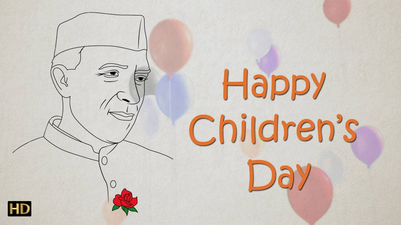 1280x720 Easy Chacha Nehru Drawing For Kids Children's Day Special Kids