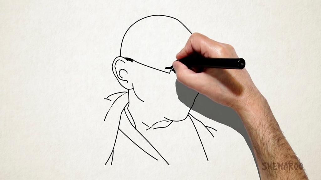 1024x576 Easy Gandhi Photo For Draw Easy Mahatma Gandhi Drawing For Kids