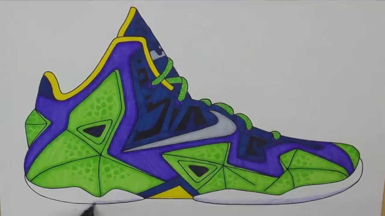 1280x720 Drawn Shoe Lebron Shoe