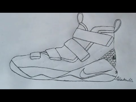 480x360 How To Draw The Nike Lebron Soldier 11 Hyperlapse