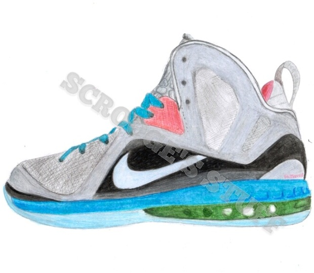 620x538 Nike Lebron 9 P.s. Elite Drawing