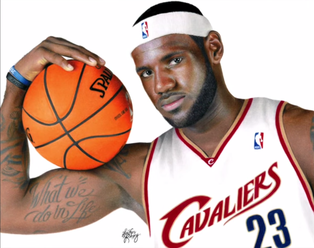 1022x809 Artist Draws Incredibly Realistic Drawing Of Lebron