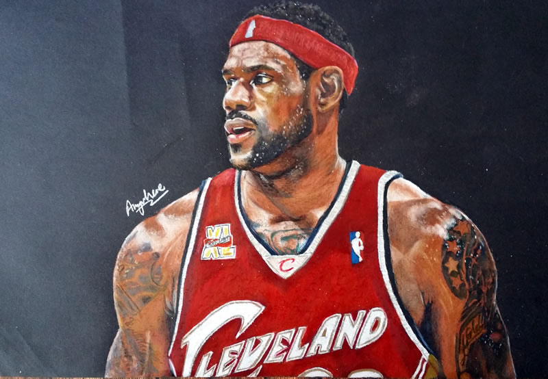 800x554 Drawing Lebron James 2015 By Anywheret