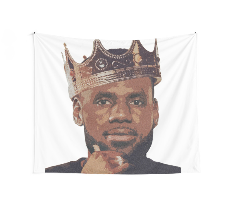 800x707 King Lebron James Wall Tapestries By Sndn Redbubble
