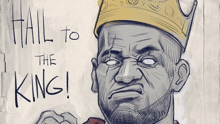 750x422 Lebron James Hail To The King Sketch Hooped Up