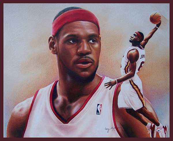 600x490 Lebron James Drawing By Cory Mckee
