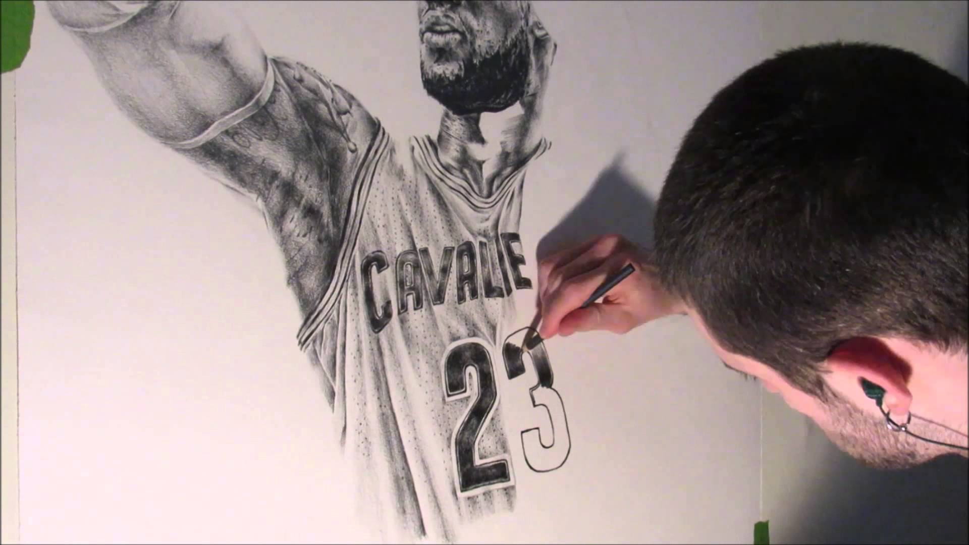 1920x1080 Lebron James Speed Drawing