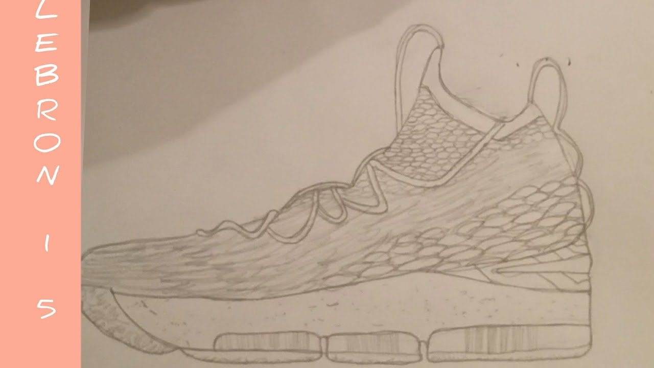 Lebron James Shoes Drawing At Getdrawings Com Free For