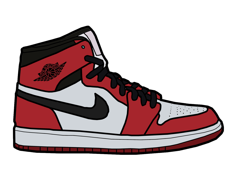 save off 093b9 c94dc 3000x2500 Air Jordan 1 Shoes Drawing Lebron