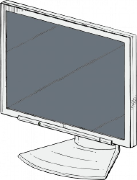 478x626 Led Monitor Hand Drawn Vector Free Download
