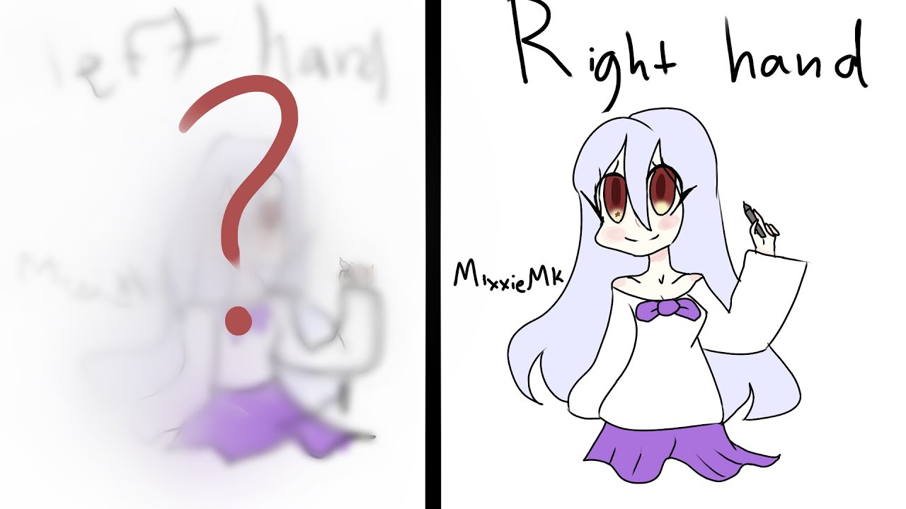 1280x720 Left Hand Vs. Right Hand Drawing Challenge!