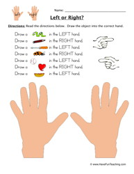 193x250 Left Or Right Worksheet 2 Worksheets, Activities And Drawings