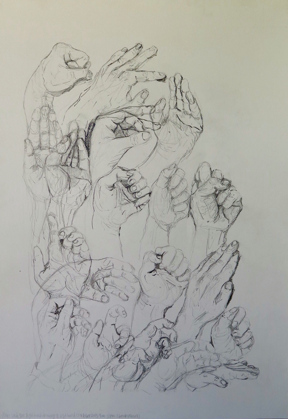 916x1334 Three Hours Of Drawing My Left Hand With My Dominant Right Hand