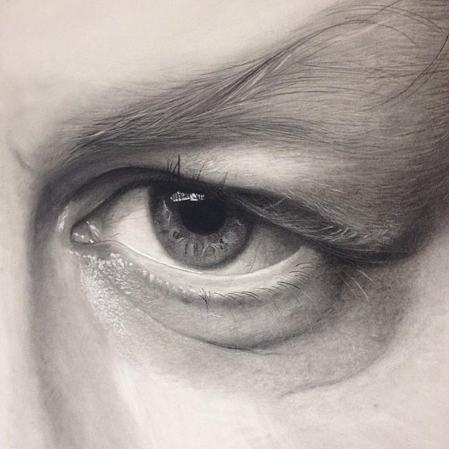 640x640 Bit Of A Three Quarter View Of The Left Eye Drawing.