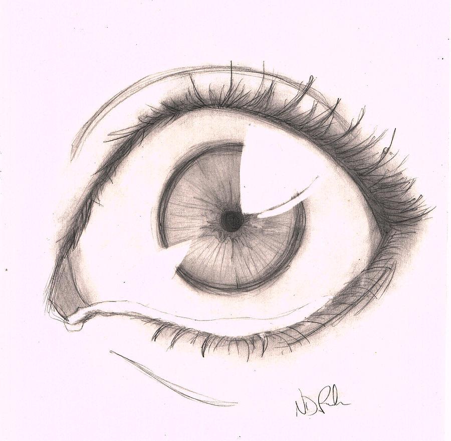 900x882 Left Eye Drawing By Nicole Depreker
