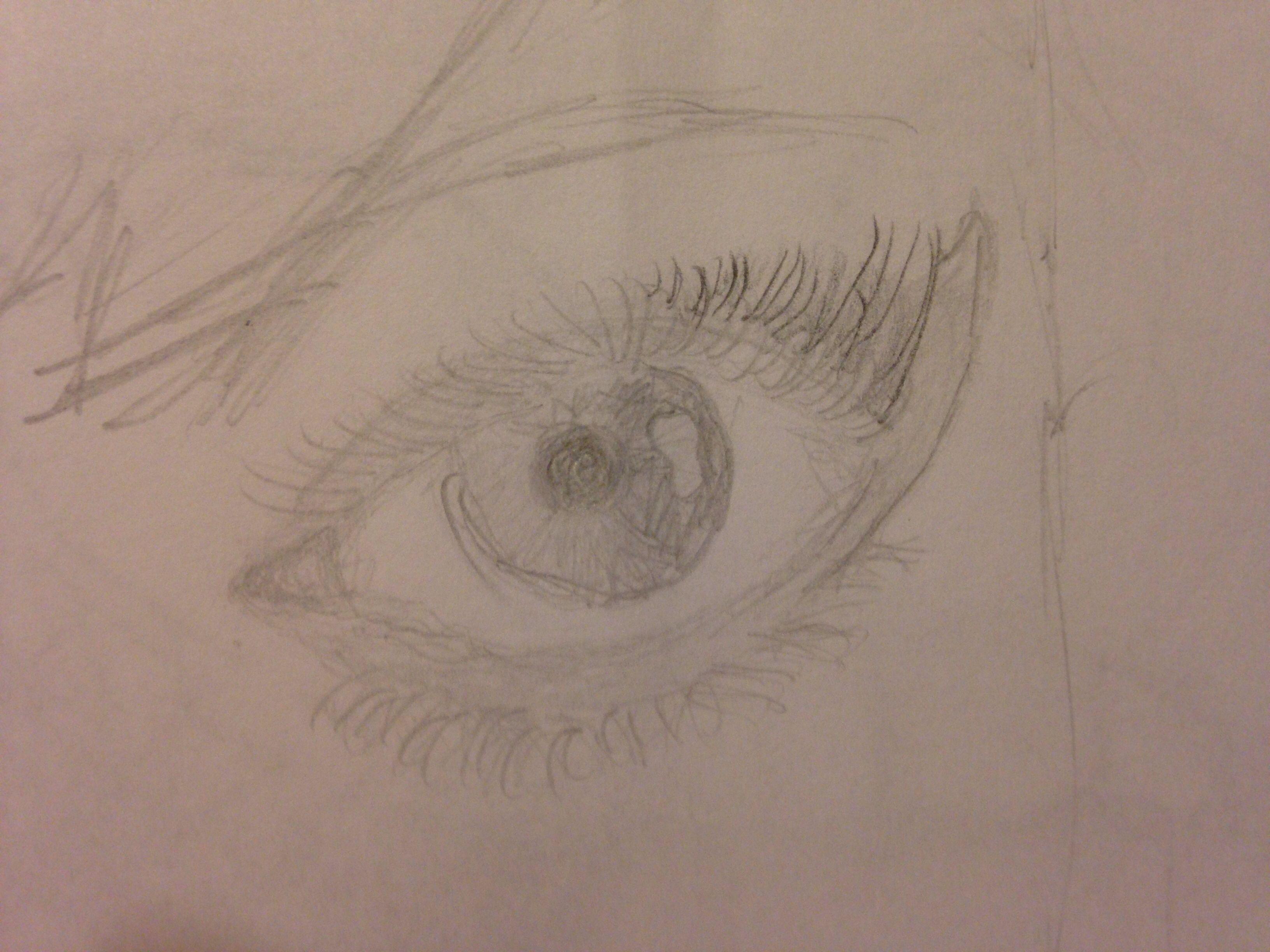 3264x2448 Left Eye Drawing By Me! Art