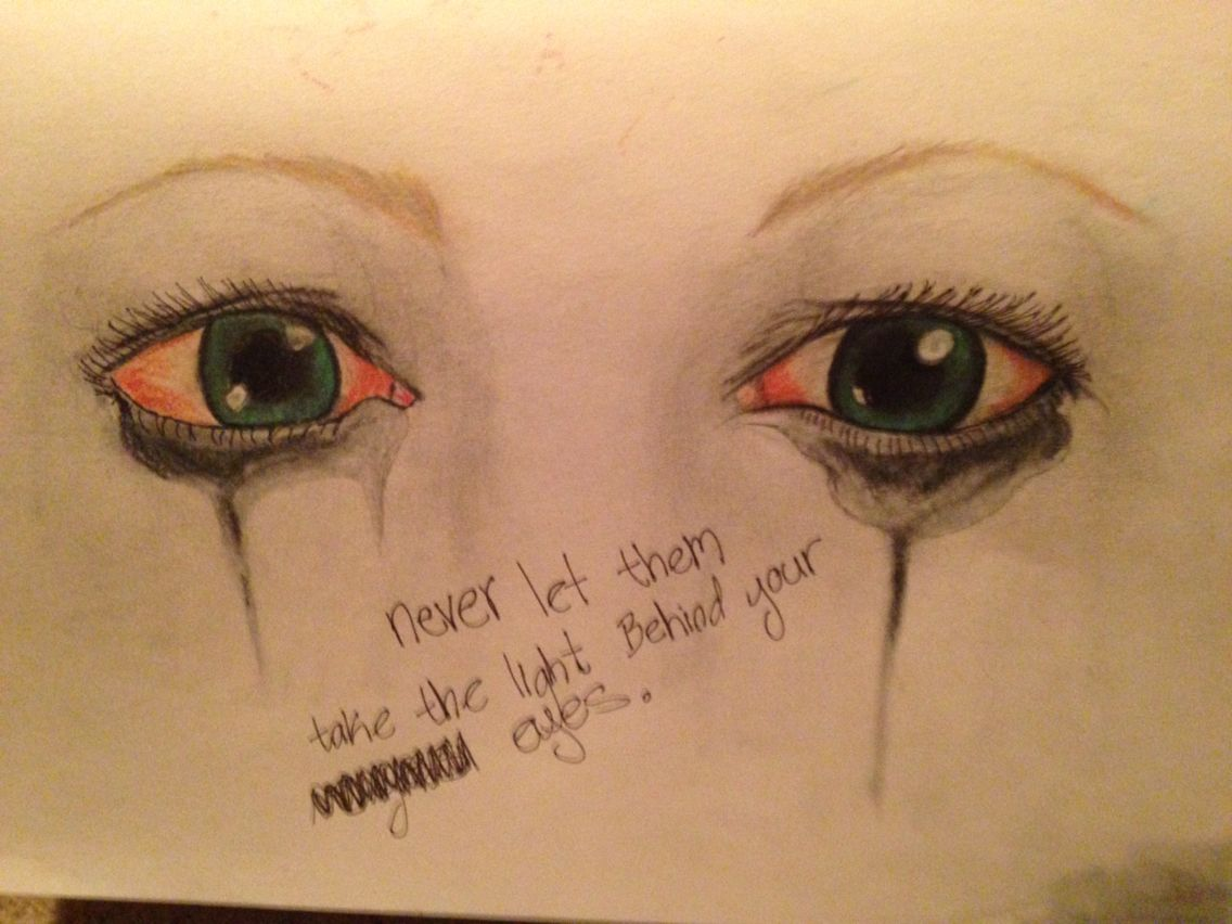 1136x852 The Light Has Left My Eyes ( Drawing Of Girl Crying) My Art