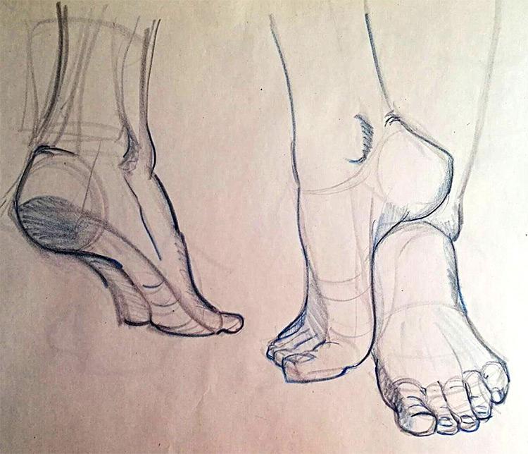 750x644 Drawings Of Feet Sketches Amp Anatomy Studies