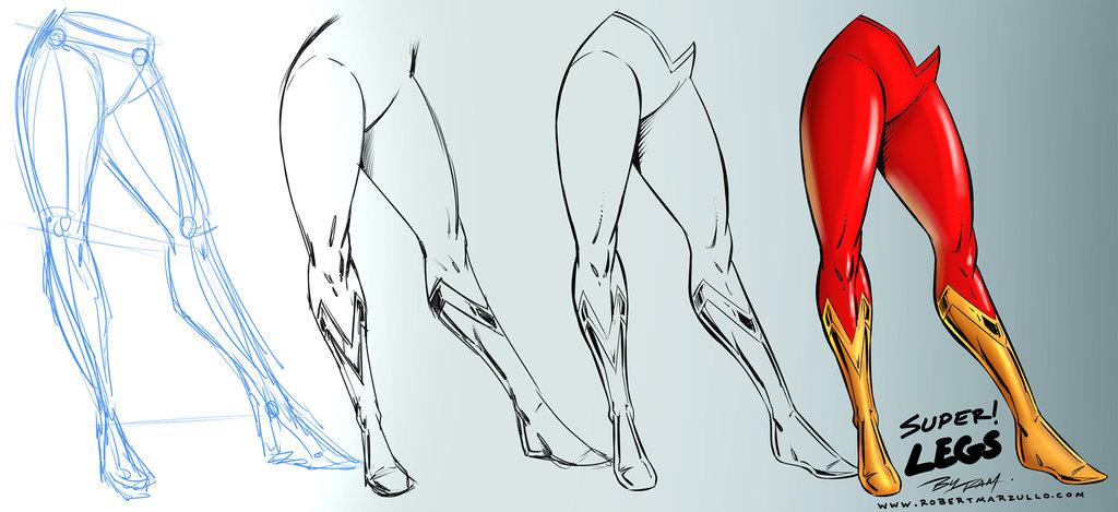 1024x469 Super Woman Legs Comic Art Style