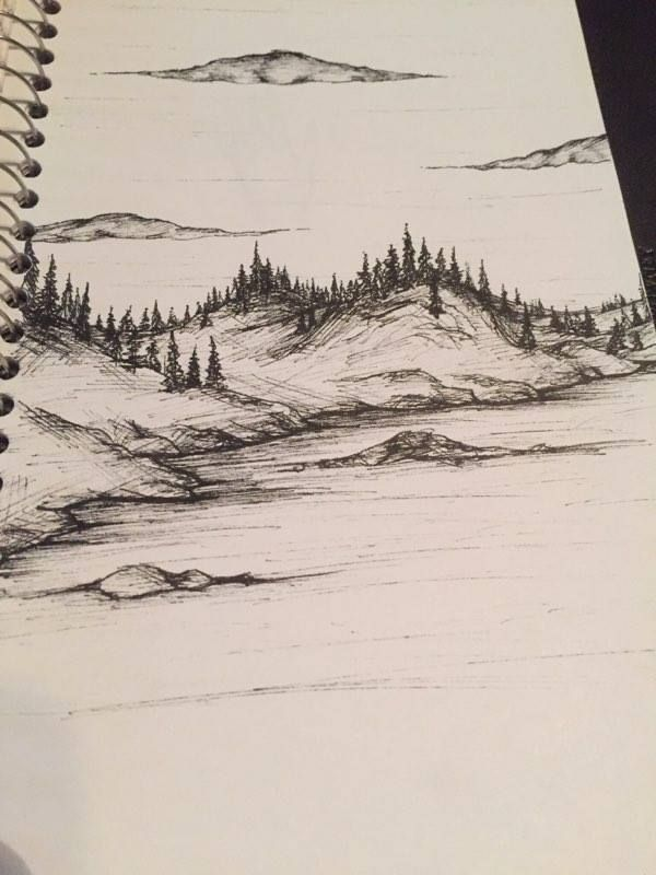 600x800 A Landscape I Did A While Ago With My Microns. Check Out My