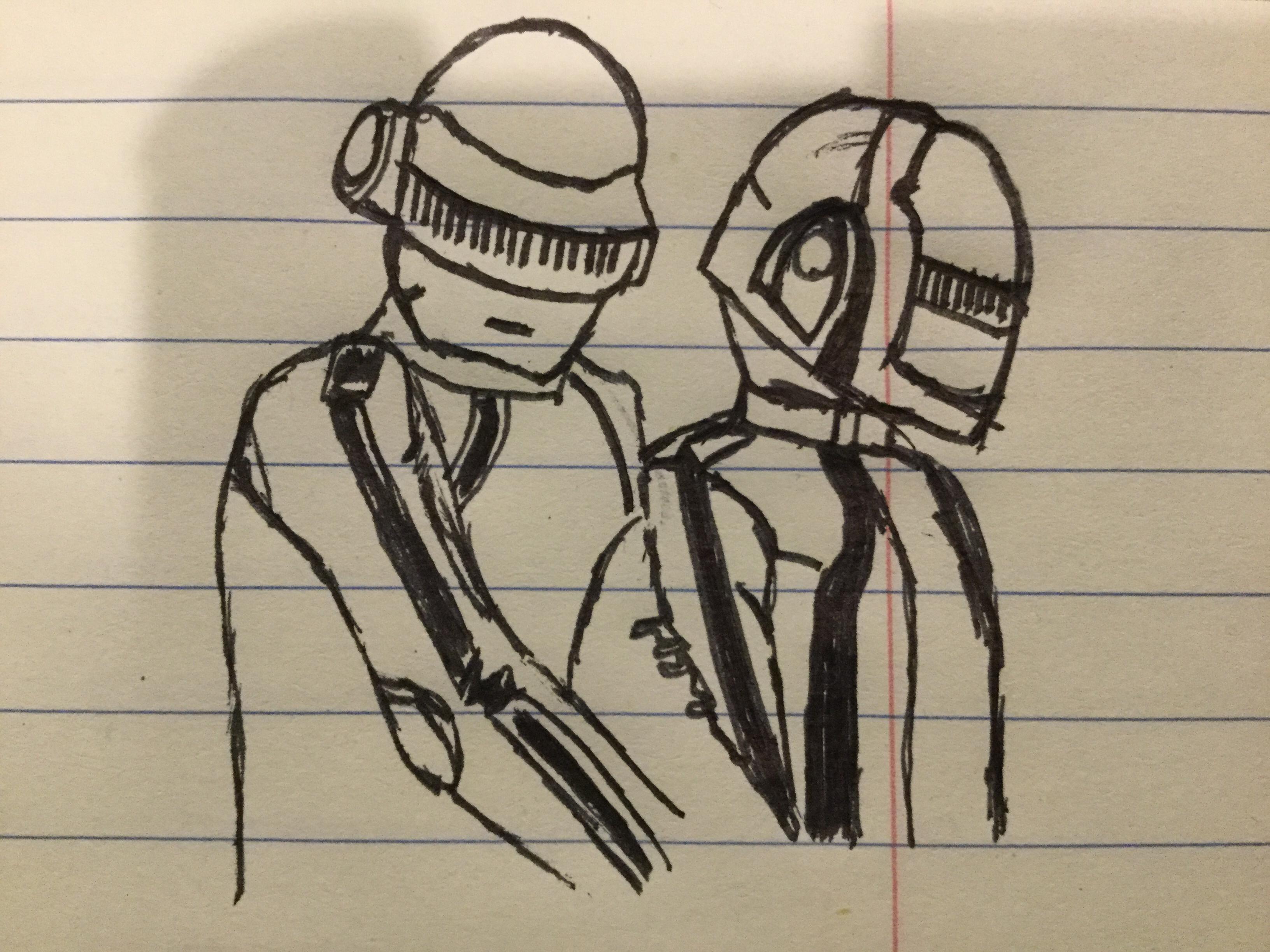 3264x2448 Daft Punk Tron Legacy Drawing Daftpunk